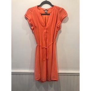 H&M Peach Button Up Dress